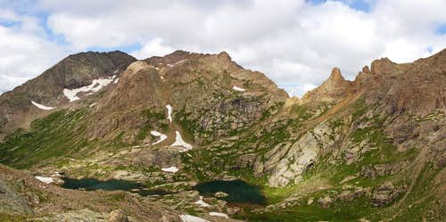 Mt Eolus and Twin Lakes