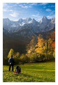 Fall selfportrait in Julian Alps