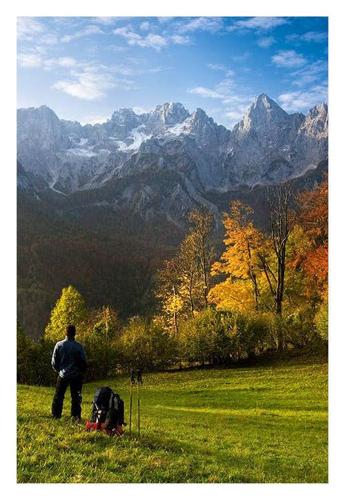 Fall selfportrait in Julian Alps
