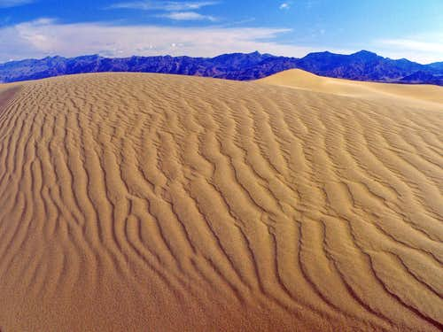 Mesquite Dunes and Grapevine Mtns.