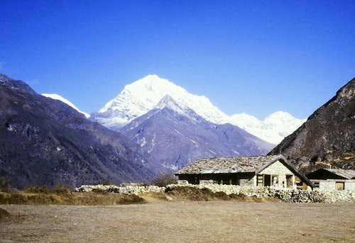 Parchamo Peak seen from Namche Bazar