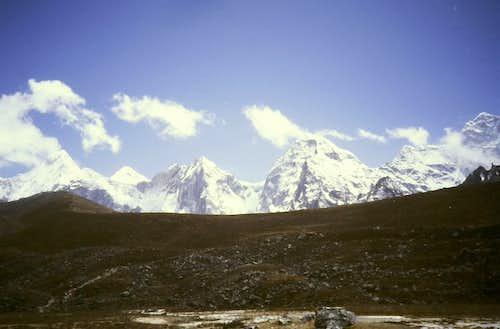 Island Peak and Baruntse