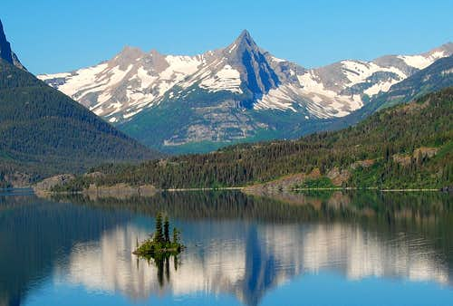"""GLORIOUS REFLECTION""-SAINT MARY\'S LAKE-GLACIER NATIONAL PARK-MT"