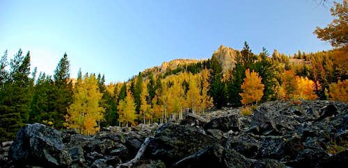 Sheafman Crags on a Fall Morning