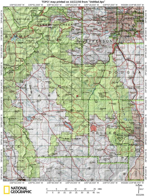 Panoramio Photo Of Pike National Forest ~ Pike National Forest Map