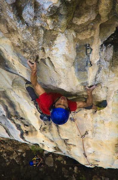 Rock climbing in Guizhou