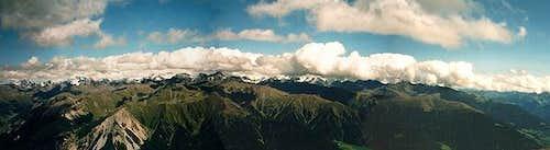 Summit panorama: Ötztal Alps...