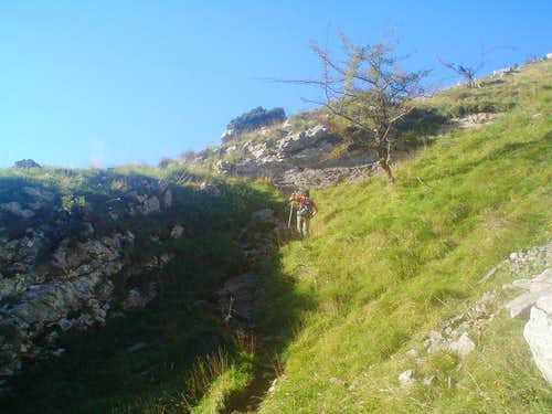 The path that begins in Atxarte and finish in the scrambling part of the  Gran Diagonal