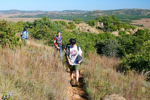 Younger Boys Climb Elk Mountain