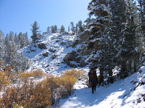 New Snow on the Bishop Pass Trail