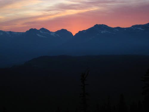Eric/Ralph Pass at Sunset from Mt Drabble