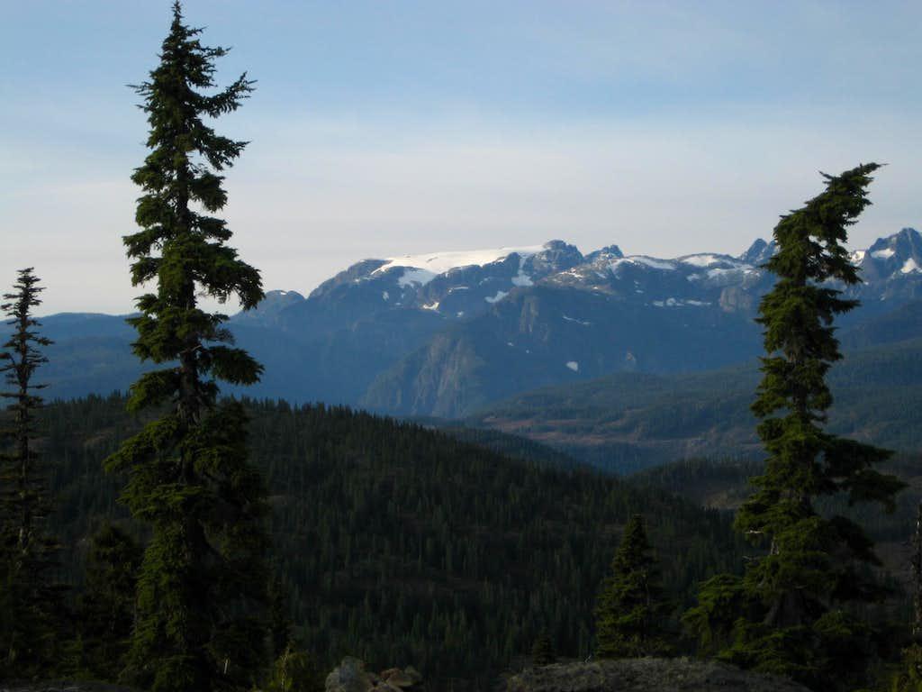 The Comox Glacier from Mt Drabble