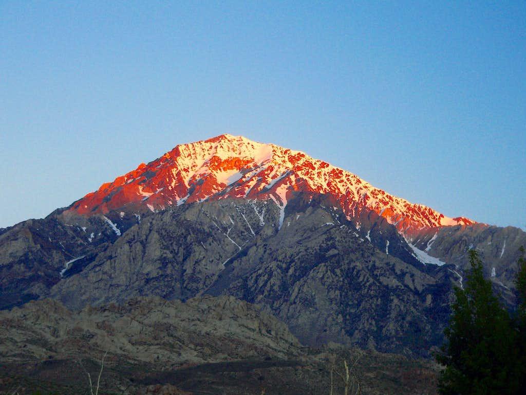 First light on Mt. Tom