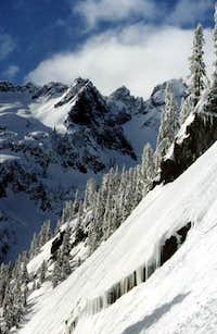 The ridgeline on approach to...