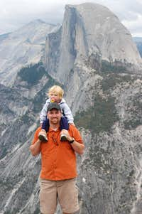 My daughter and I at Glacier Point