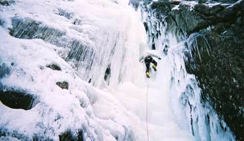 Ice Climbing in the Giants.