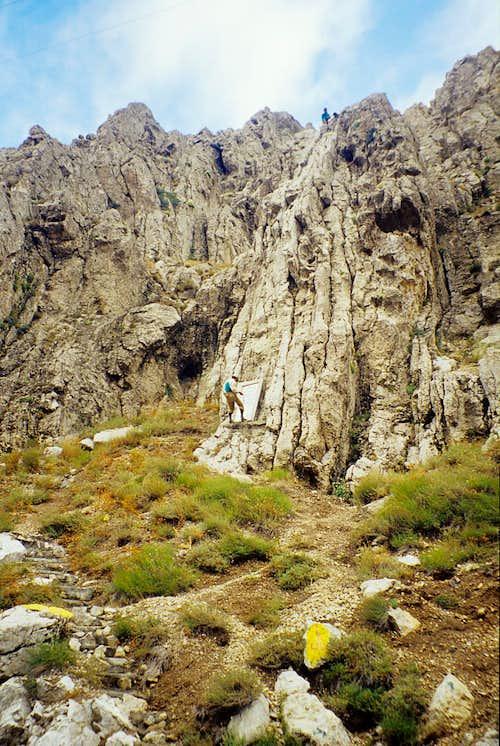 Alpinistic training...
