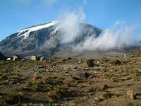 The South Face of Kibo from...