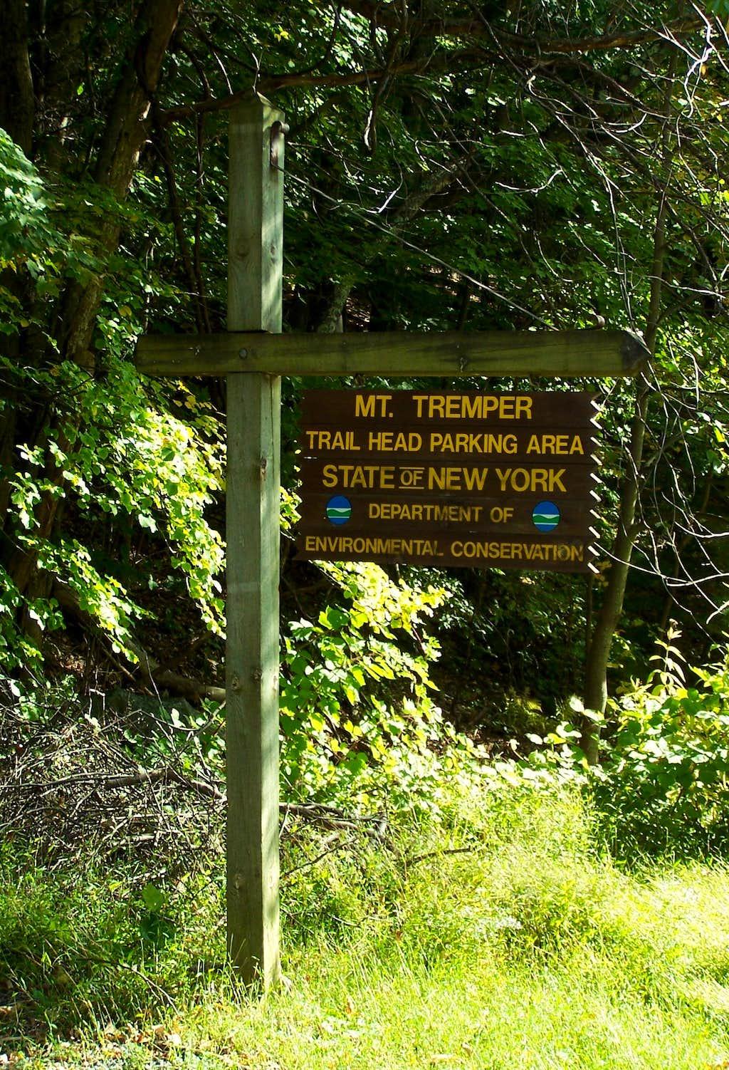 Tremper Mountain Trailhead Sign