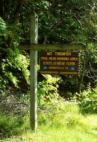 Tremper Mountain Trailhead Sign