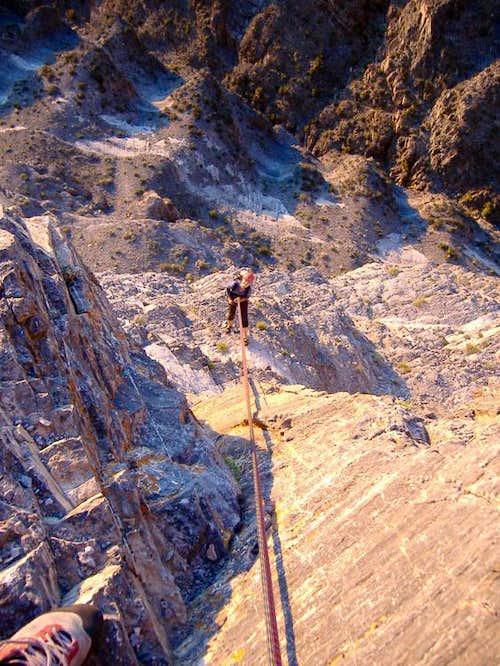 Rappel on Notch Peak