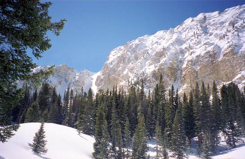 East Face of Deseret Peak in Winter