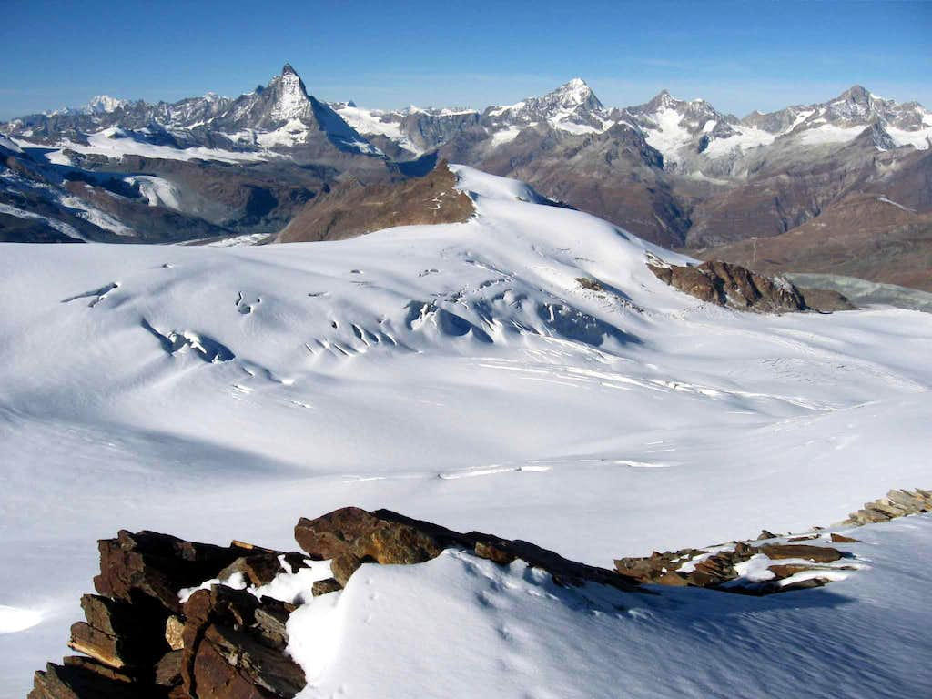 The Findelngletscher and the Stockhorn.