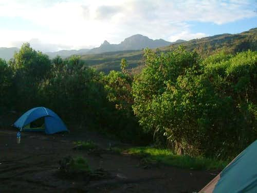 Looking west from the Machame...