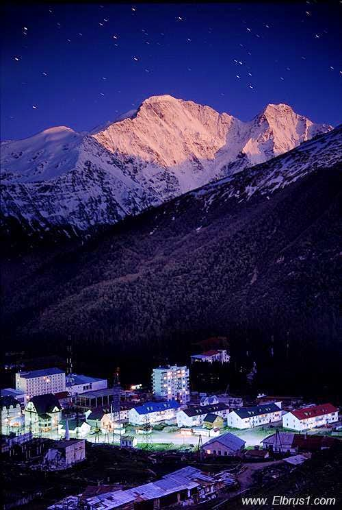 Terskol village and Donguz-Orun...