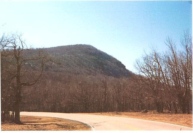 Clear March day on Hawksbill Mountain