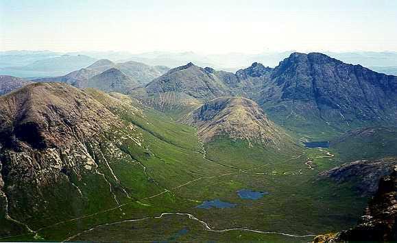 Isle of Skye, Black Cuilins from Sgurr nan Gillean