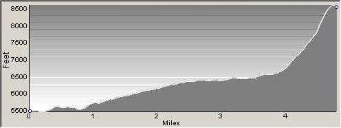 Route Profile - East Sheafman Peak
