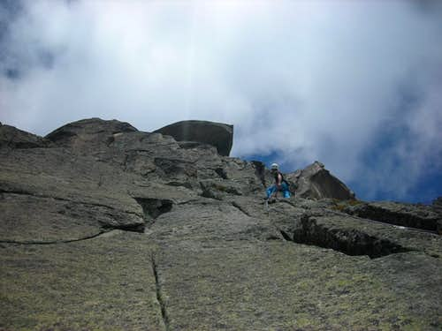 Climbing the SE-face route