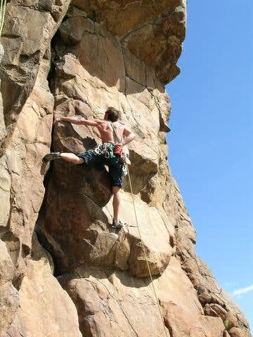 Anonymous climber on Mr....