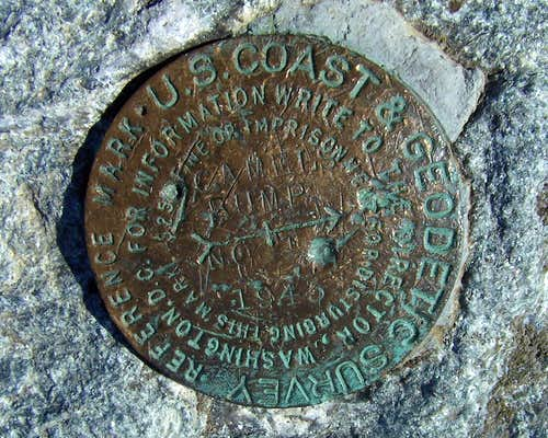 Camels Hump Survey Marker