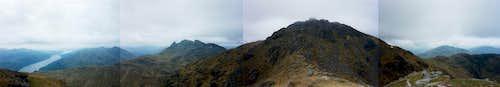 Arrochar panorama: Loch Long, the Cobbler & Ben Narnain