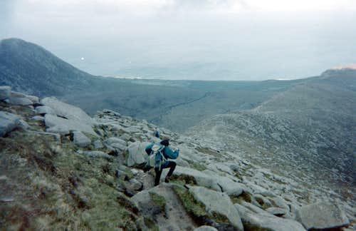 Descending from Goat Fell