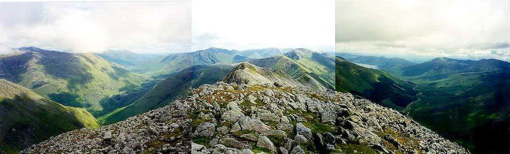 Sgurr na Ciste Duibhe panorama, 5 Sisters of Kintail