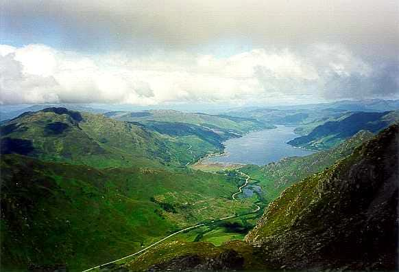 Loch Duich from Sgurr na Carmach, 5 Sisters of Kintail