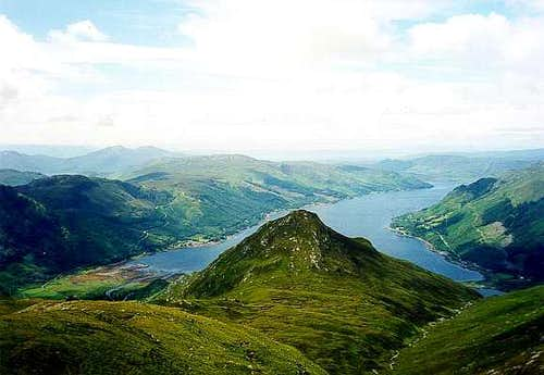 Loch Duich from Sgurr Fhuaran, 5 Sisters of Kintail