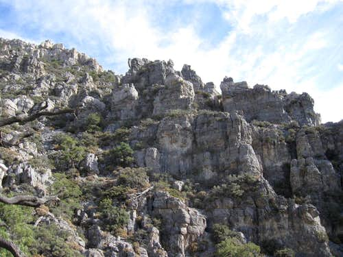 Cliffy terrain