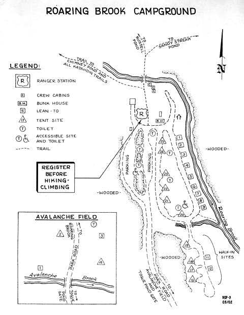 A map of Roaring Brook...