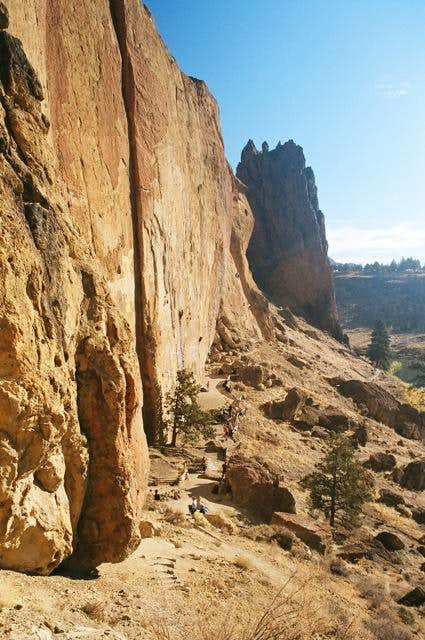 View of Morning Glory Wall at Smith Rock