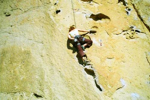 Front side moderate sport climbs at Smith Rock, Oct 2008