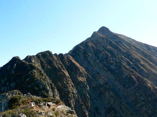 The north ridge...