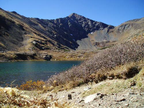 Comanche Peak with Comanche Lake in the foreground