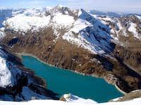Mooserboden area seen from Kaindlgrat