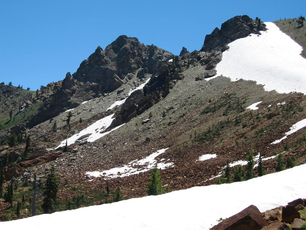 Seven Up Peak from the north