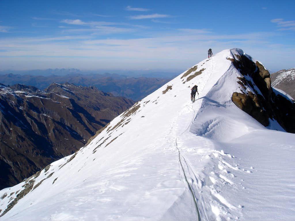 Descent from Kaindlgrat