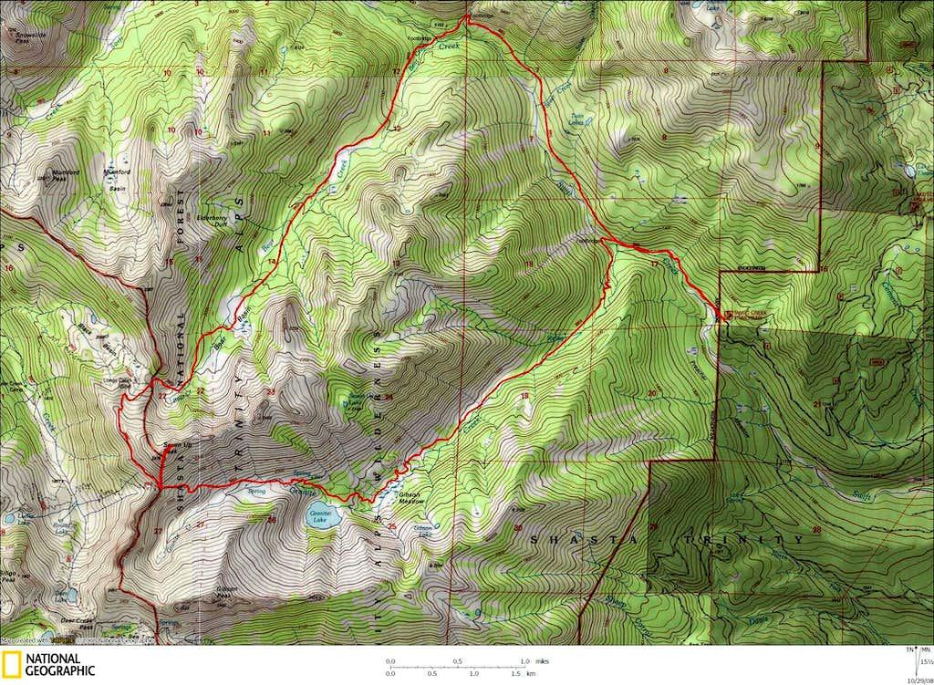 Bear Basin Loop Trail Map